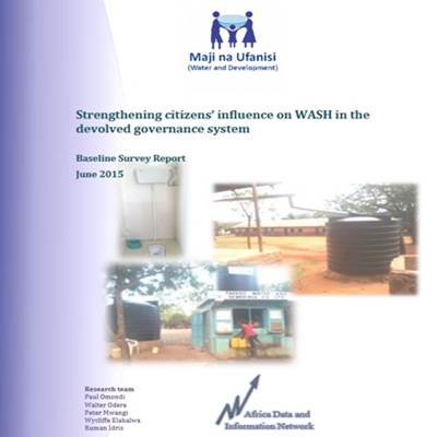 Strengthening Citizens' Influence on WASH in the Devolved Governance System